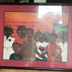 Framed print picturing CHILDREN OF SOUTH AFRICA